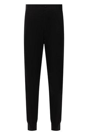 Мужские хлопковые джоггеры HUGO черного цвета, арт. 50455916 | Фото 1 (Длина (брюки, джинсы): Стандартные; Материал внешний: Хлопок; Силуэт М (брюки): Джоггеры; Стили: Спорт-шик)