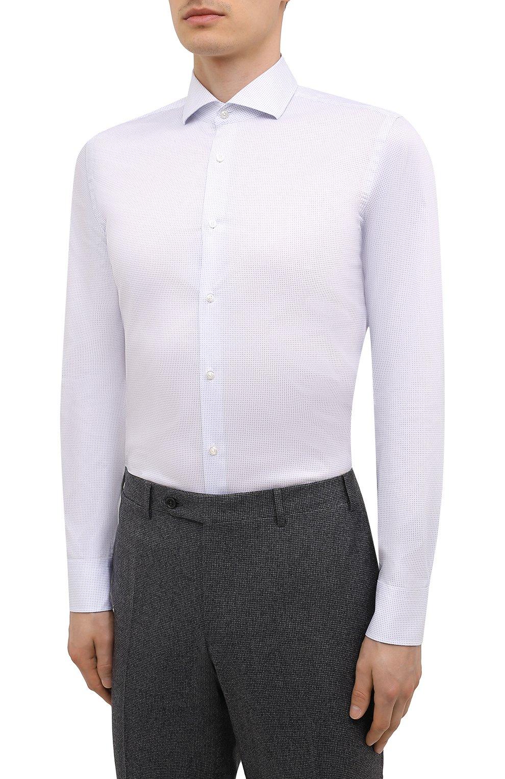 Мужская сорочка BOSS голубого цвета, арт. 50451166   Фото 3