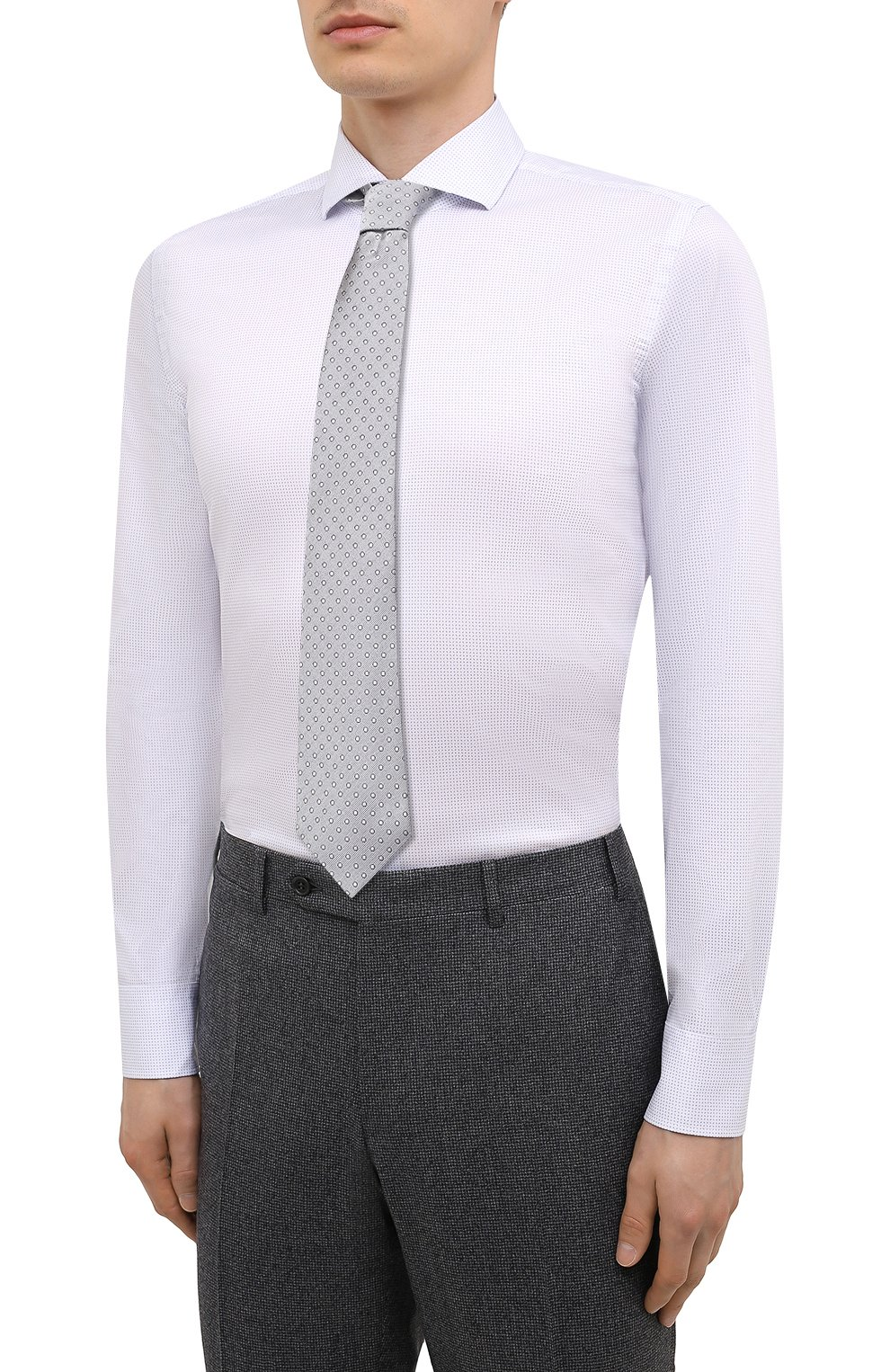 Мужская сорочка BOSS голубого цвета, арт. 50451166   Фото 4
