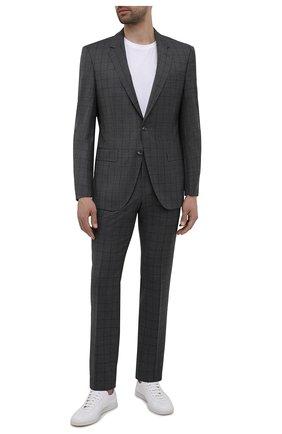 Мужской шерстяной костюм BOSS темно-серого цвета, арт. 50453731 | Фото 1