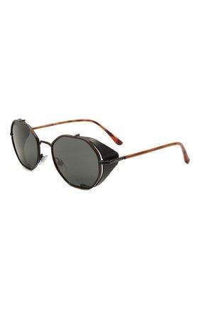 Мужские солнцезащитные очки GIORGIO ARMANI черного цвета, арт. AR6112JM | Фото 1