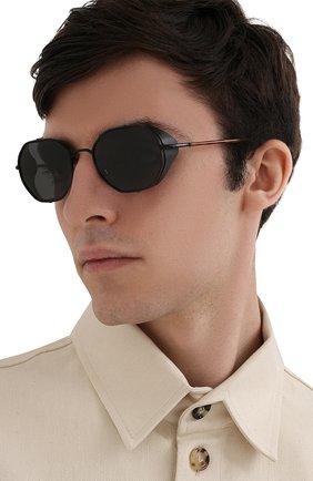Мужские солнцезащитные очки GIORGIO ARMANI черного цвета, арт. AR6112JM | Фото 2
