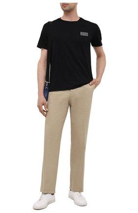 Мужская хлопковая футболка VALENTINO черного цвета, арт. WV3MG08G6LC | Фото 2 (Материал внешний: Хлопок; Рукава: Короткие; Стили: Кэжуэл; Принт: Без принта; Длина (для топов): Стандартные)