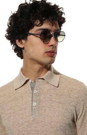Мужские солнцезащитные очки KITON синего цвета, арт. U0C00203/000 | Фото 2
