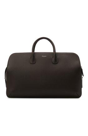 Мужская кожаная дорожная сумка GIORGIO ARMANI темно-коричневого цвета, арт. Y2Q212/YQA9E | Фото 1