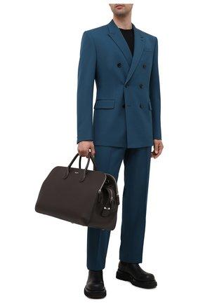 Мужская кожаная дорожная сумка GIORGIO ARMANI темно-коричневого цвета, арт. Y2Q212/YQA9E | Фото 2
