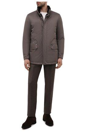 Мужская пуховая куртка с меховой отделкой bernier-ads MOORER серого цвета, арт. BERNIER-ADS/M0UGI100118-TEPA011 | Фото 2