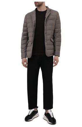 Мужская пуховая куртка из шерсти и кашемира zayn-l MOORER бежевого цвета, арт. ZAYN-L/M0UGI100307-TEPA217 | Фото 2 (Материал внешний: Шерсть; Длина (верхняя одежда): Короткие; Материал подклада: Синтетический материал; Рукава: Длинные; Кросс-КТ: Куртка, Пуховик; Стили: Кэжуэл; Мужское Кросс-КТ: пуховик-короткий; Материал утеплителя: Пух и перо)