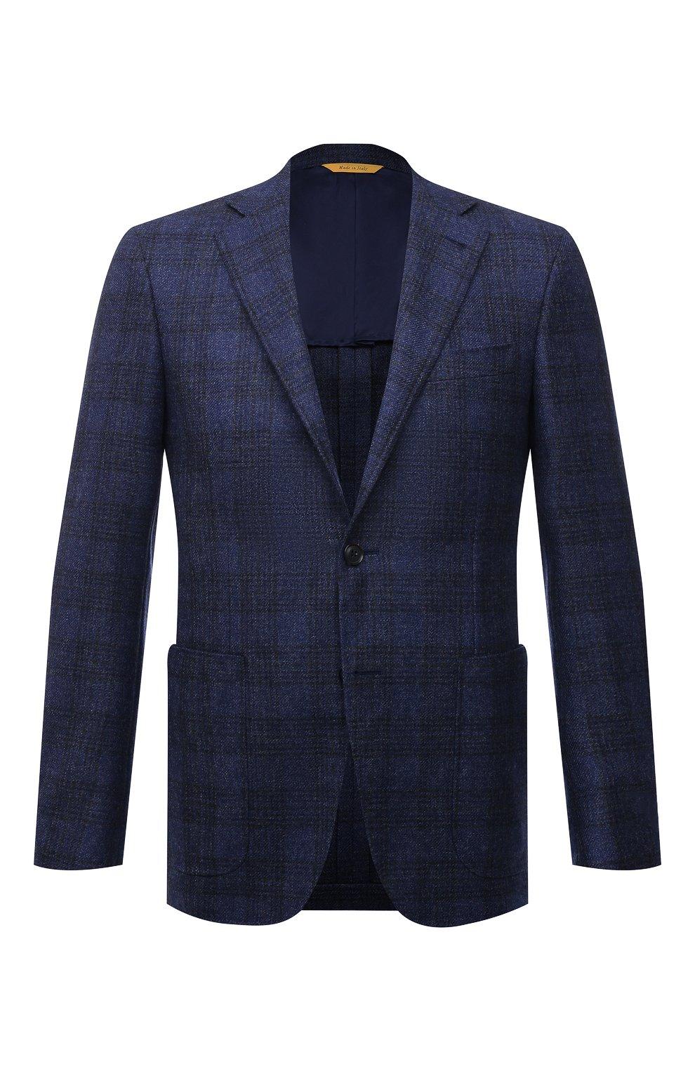 Мужской шерстяной пиджак CANALI синего цвета, арт. 23275/CF02798/111   Фото 1