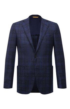 Мужской шерстяной пиджак CANALI синего цвета, арт. 23275/CF02798/111 | Фото 1