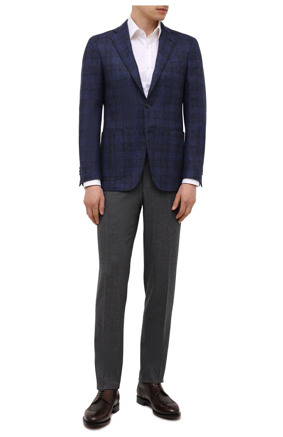 Мужской шерстяной пиджак CANALI синего цвета, арт. 23275/CF02798/111   Фото 2