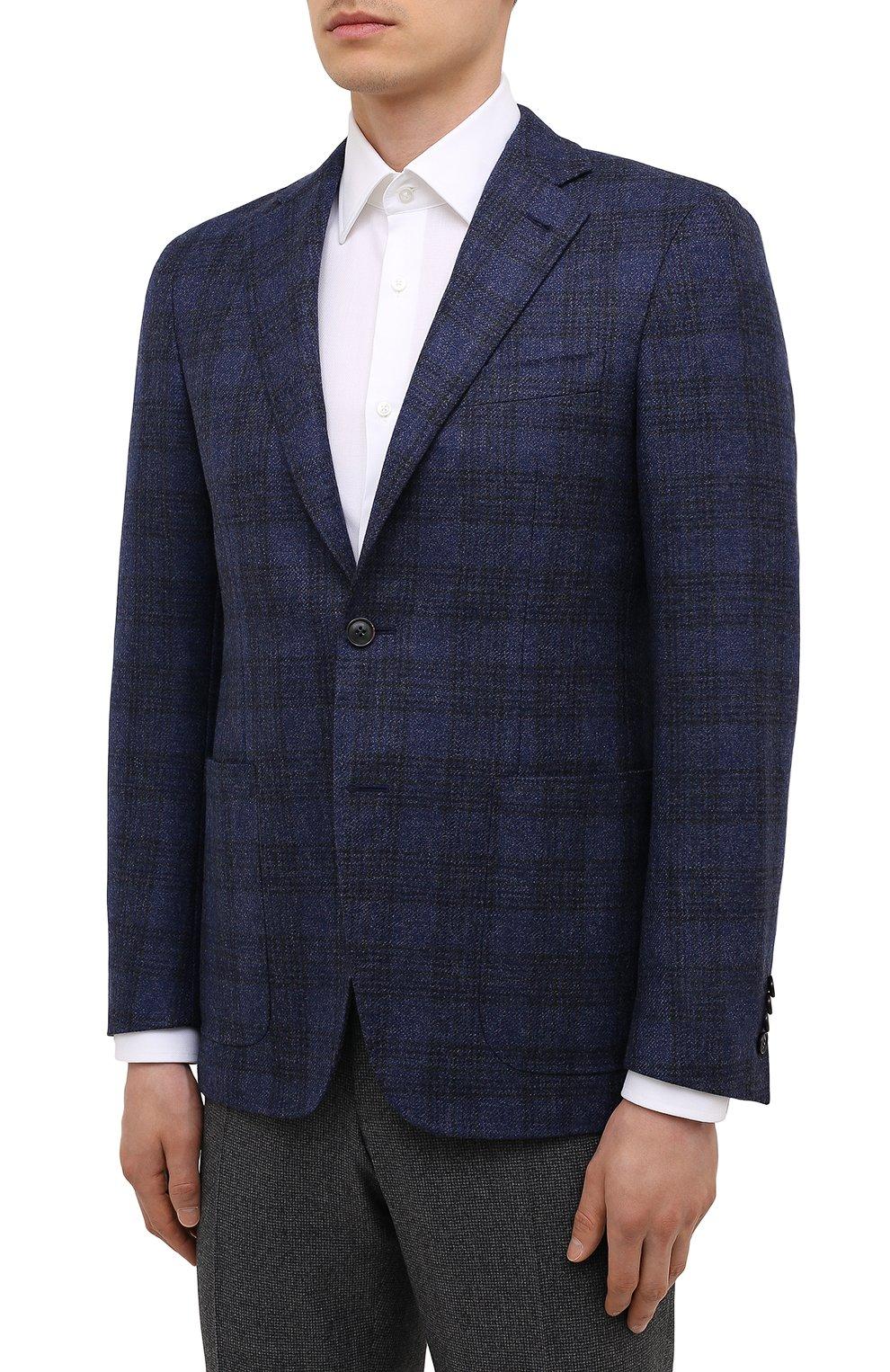 Мужской шерстяной пиджак CANALI синего цвета, арт. 23275/CF02798/111   Фото 3