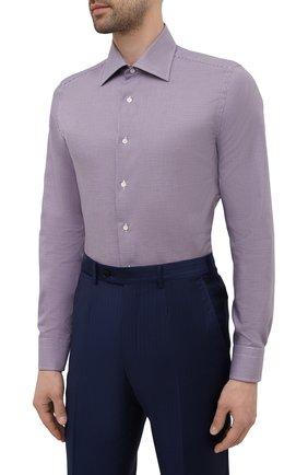 Мужская хлопковая сорочка CANALI бордового цвета, арт. NX05/GR02329 | Фото 3