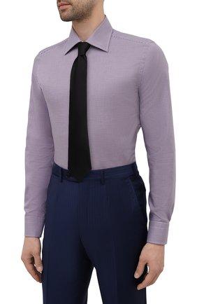 Мужская хлопковая сорочка CANALI бордового цвета, арт. NX05/GR02329 | Фото 4