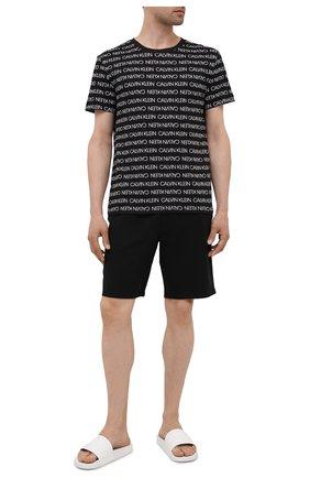 Мужская хлопковая футболка CALVIN KLEIN черного цвета, арт. KM0KM00598 | Фото 2