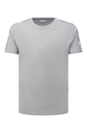 Мужская хлопковая футболка CALVIN KLEIN серого цвета, арт. KM0KM00607 | Фото 1