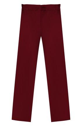 Детские брюки ALETTA бордового цвета, арт. A210947-13N/4A-8A | Фото 2 (Материал внешний: Синтетический материал, Вискоза; Девочки Кросс-КТ: Брюки-одежда; Ростовка одежда: 6 лет | 116 см, 7 лет | 122 см, 8 лет | 128 см)