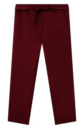 Детские брюки ALETTA бордового цвета, арт. A210923-16N/4A-8A | Фото 1 (Материал внешний: Синтетический материал; Девочки Кросс-КТ: Брюки-одежда; Материал подклада: Вискоза; Ростовка одежда: 6 лет | 116 см, 7 лет | 122 см, 8 лет | 128 см)