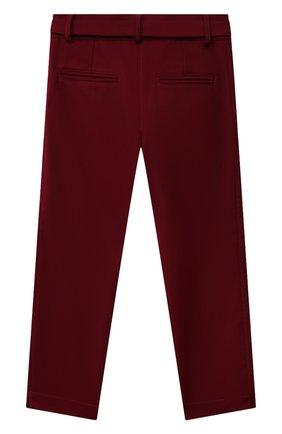 Детские брюки ALETTA бордового цвета, арт. A210923-16N/4A-8A | Фото 2 (Материал внешний: Синтетический материал; Девочки Кросс-КТ: Брюки-одежда; Материал подклада: Вискоза; Ростовка одежда: 6 лет | 116 см, 7 лет | 122 см, 8 лет | 128 см)