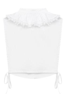 Детский хлопковая манишка ALETTA белого цвета, арт. A210575/4A-8A | Фото 2 (Материал: Текстиль, Хлопок)