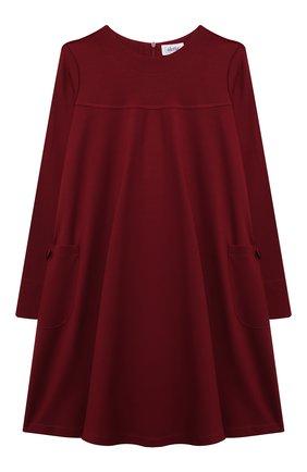 Детское платье из вискозы ALETTA бордового цвета, арт. A210566-19/9A-16A | Фото 1