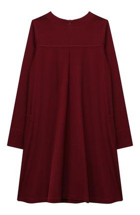 Детское платье из вискозы ALETTA бордового цвета, арт. A210566-19/9A-16A | Фото 2