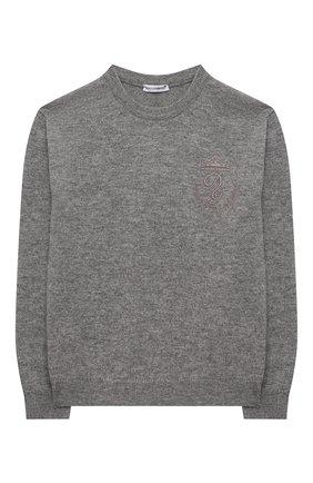 Детский кашемировый пуловер DOLCE & GABBANA серого цвета, арт. L4KW22/JAW00/2-6 | Фото 1