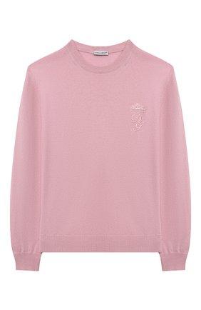 Детский кашемировый пуловер DOLCE & GABBANA розового цвета, арт. L4KW22/JAW00/2-6 | Фото 1