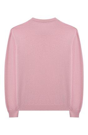 Детский кашемировый пуловер DOLCE & GABBANA розового цвета, арт. L4KW22/JAW00/2-6 | Фото 2