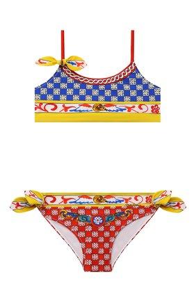 Детского раздельный купальник DOLCE & GABBANA разноцветного цвета, арт. L5J806/G7WLU/2-6   Фото 1