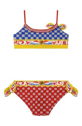 Детского раздельный купальник DOLCE & GABBANA разноцветного цвета, арт. L5J806/G7WLU/2-6   Фото 2