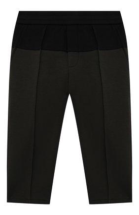 Детские хлопковые брюки EMPORIO ARMANI хаки цвета, арт. 6KHP67/1JHSZ   Фото 1 (Материал внешний: Хлопок; Ростовка одежда: 9 мес   74 см, 12 мес   80 см, 24 мес   92 см, 36 мес   98 см)