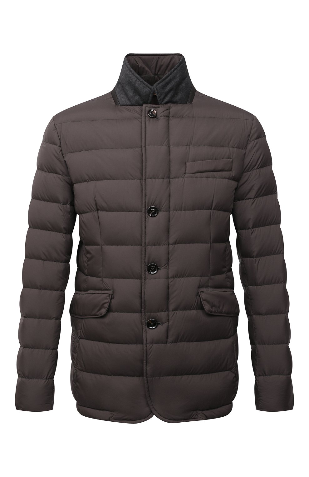 Мужская пуховая куртка zayn-op MOORER коричневого цвета, арт. ZAYN-0P/M0UGI100307-TEPA017   Фото 1 (Кросс-КТ: Куртка, Пуховик; Мужское Кросс-КТ: пуховик-короткий; Рукава: Длинные; Материал внешний: Синтетический материал; Материал подклада: Синтетический материал; Длина (верхняя одежда): Короткие; Материал утеплителя: Пух и перо; Стили: Кэжуэл)