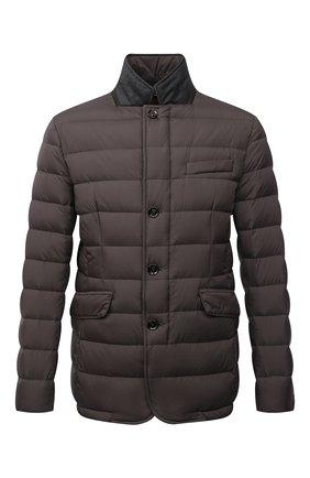 Мужская пуховая куртка zayn-op MOORER коричневого цвета, арт. ZAYN-0P/M0UGI100307-TEPA017 | Фото 1 (Длина (верхняя одежда): Короткие; Материал внешний: Синтетический материал; Кросс-КТ: Пуховик, Куртка; Мужское Кросс-КТ: пуховик-короткий; Рукава: Длинные; Материал подклада: Синтетический материал; Стили: Кэжуэл; Материал утеплителя: Пух и перо)