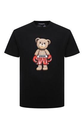 Мужская хлопковая футболка DOMREBEL черного цвета, арт. STABDING/B0X T-SHIRT | Фото 1