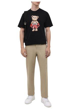 Мужская хлопковая футболка DOMREBEL черного цвета, арт. STABDING/B0X T-SHIRT | Фото 2