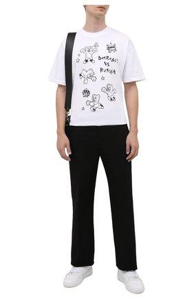Мужская хлопковая футболка DOMREBEL белого цвета, арт. RUMBLE/B0X T-SHIRT | Фото 2 (Материал внешний: Хлопок; Длина (для топов): Стандартные; Рукава: Короткие; Стили: Гранж; Принт: С принтом)