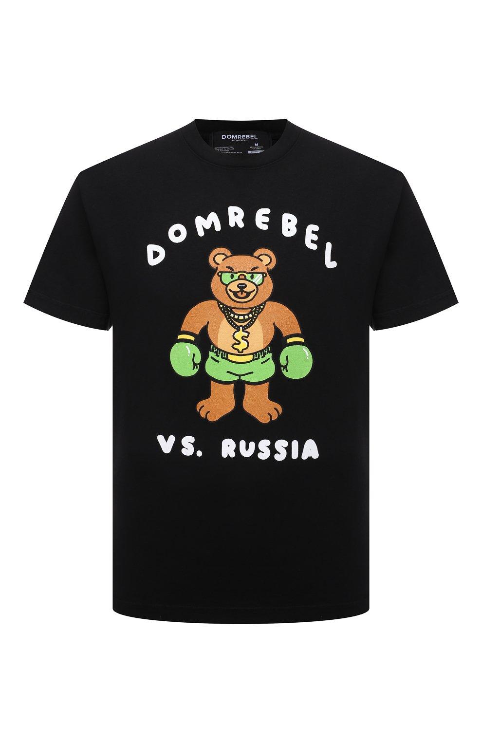 Мужская хлопковая футболка DOMREBEL черного цвета, арт. CASH PRIZE/B0X T-SHIRT   Фото 1 (Рукава: Короткие; Длина (для топов): Стандартные; Стили: Гранж; Принт: С принтом; Материал внешний: Хлопок)