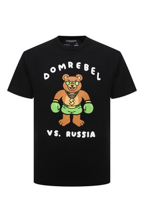Мужская хлопковая футболка DOMREBEL черного цвета, арт. CASH PRIZE/B0X T-SHIRT | Фото 1