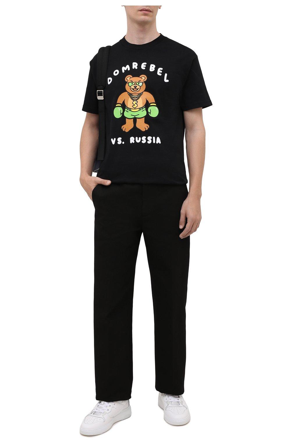 Мужская хлопковая футболка DOMREBEL черного цвета, арт. CASH PRIZE/B0X T-SHIRT   Фото 2 (Рукава: Короткие; Длина (для топов): Стандартные; Стили: Гранж; Принт: С принтом; Материал внешний: Хлопок)
