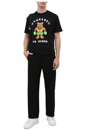 Мужская хлопковая футболка DOMREBEL черного цвета, арт. CASH PRIZE/B0X T-SHIRT | Фото 2