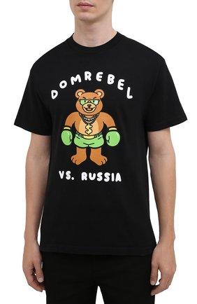 Мужская хлопковая футболка DOMREBEL черного цвета, арт. CASH PRIZE/B0X T-SHIRT   Фото 3 (Рукава: Короткие; Длина (для топов): Стандартные; Стили: Гранж; Принт: С принтом; Материал внешний: Хлопок)
