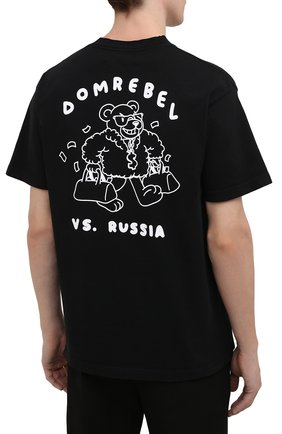 Мужская хлопковая футболка DOMREBEL черного цвета, арт. CASH PRIZE/B0X T-SHIRT   Фото 4 (Рукава: Короткие; Длина (для топов): Стандартные; Стили: Гранж; Принт: С принтом; Материал внешний: Хлопок)