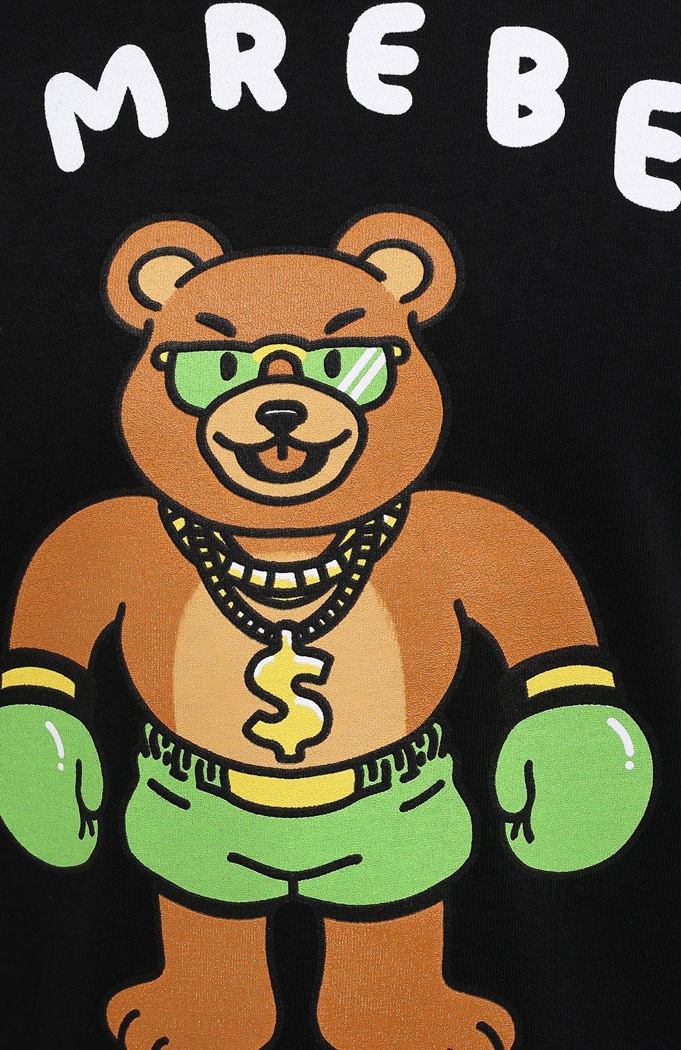 Мужская хлопковая футболка DOMREBEL черного цвета, арт. CASH PRIZE/B0X T-SHIRT   Фото 5 (Рукава: Короткие; Длина (для топов): Стандартные; Стили: Гранж; Принт: С принтом; Материал внешний: Хлопок)