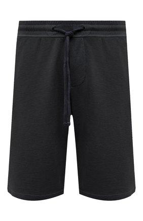 Мужские хлопковые шорты JAMES PERSE темно-серого цвета, арт. MXA4118 | Фото 1 (Материал внешний: Хлопок; Принт: Без принта; Стили: Спорт-шик; Кросс-КТ: Трикотаж; Длина Шорты М: Ниже колена)