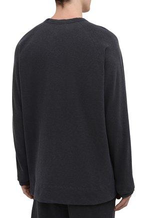 Мужской хлопковый свитшот JAMES PERSE темно-серого цвета, арт. MXA3278   Фото 4 (Рукава: Длинные; Принт: Без принта; Длина (для топов): Удлиненные; Мужское Кросс-КТ: свитшот-одежда; Материал внешний: Хлопок; Стили: Спорт-шик)