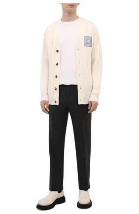 Мужские брюки из шерсти и кашемира LORO PIANA темно-серого цвета, арт. FAI3433   Фото 2