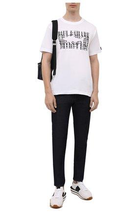 Мужская хлопковая футболка PAUL&SHARK белого цвета, арт. 11311646/C00 | Фото 2 (Материал внешний: Хлопок; Длина (для топов): Стандартные; Рукава: Короткие; Стили: Кэжуэл)