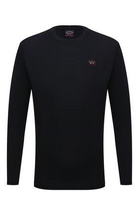Мужская хлопковый лонгслив PAUL&SHARK черного цвета, арт. C0P1097/C00 | Фото 1