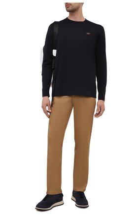 Мужская хлопковый лонгслив PAUL&SHARK черного цвета, арт. C0P1097/C00 | Фото 2